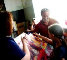 Художник из Германии Александр Игнатьков провел в Карачаевске мастер-класс по акриловой живописи