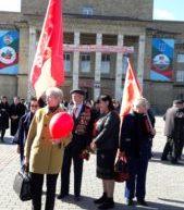 В Карачаевске  прошел митинг, посвященный 100-летию Октябрьской революции