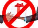 О необходимости соблюдения запрета дарить и получать подарки