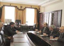 Алик Динаев провел рабочую встречу с ректором КЧГУ  Таусолтаном Узденовым