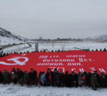 По территории Карачаевского городского округа прошел автопробег, посвященный 75-летию освобождения Северного Кавказа от немецких захватчиков