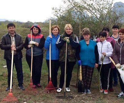 Жители поселков КГО участвуют во Всероссийском субботнике