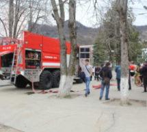 В КЧГУ прошли контрольно-проверочные пожарно-тактические учения по тушению условного пожара