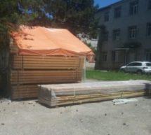 В гимназии №4 проводится реконструкция спортивного зала