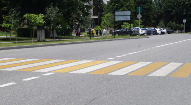 На территории КГО завершились работы по приведению пешеходных переходов в соответствие с новыми нацстандартами по безопасности дорожного движения