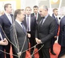 Председатель Правительства России Дмитрий Медведев посетил экспозицию Карачаево-Черкесии на агрофоруме «Золотая осень»