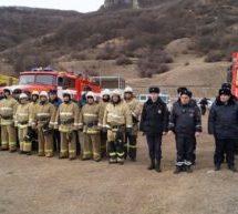 В Карачаевском городском округе прошли комплексные тренировки на тему «Организация ликвидации чрезвычайной ситуации, вызванной сходом снежных лавин»