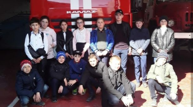 Учащиеся  МКОУ «СШ пос.Мара-Аягъы» посетили пожарно-спасательную часть №4 ФГКУ «1 ОФПС по Карачаево-Черкесской республике»