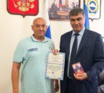 Алик Динаев провел рабочее совещание с начальником физической и боевой подготовки Санкт-Петербургского полицейского колледжа Романом Семеновым