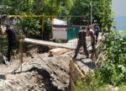 Алик Динаев ознакомился с ходом работ по капитальному ремонту подпорной стены, а также по ремонту дороги по ул. Советской и по ул. Байрамукова