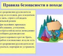 Правила поведения граждан в случае совершения походов (путешествий, экскурсий) в природной среде, а также порядок действий при потере ориентации на местности