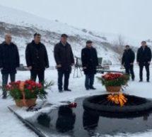Состоялось возложение цветов у музея-памятника защитникам перевалов Кавказа, посвященное 78-й  годовщине окончания Битвы за Кавказ